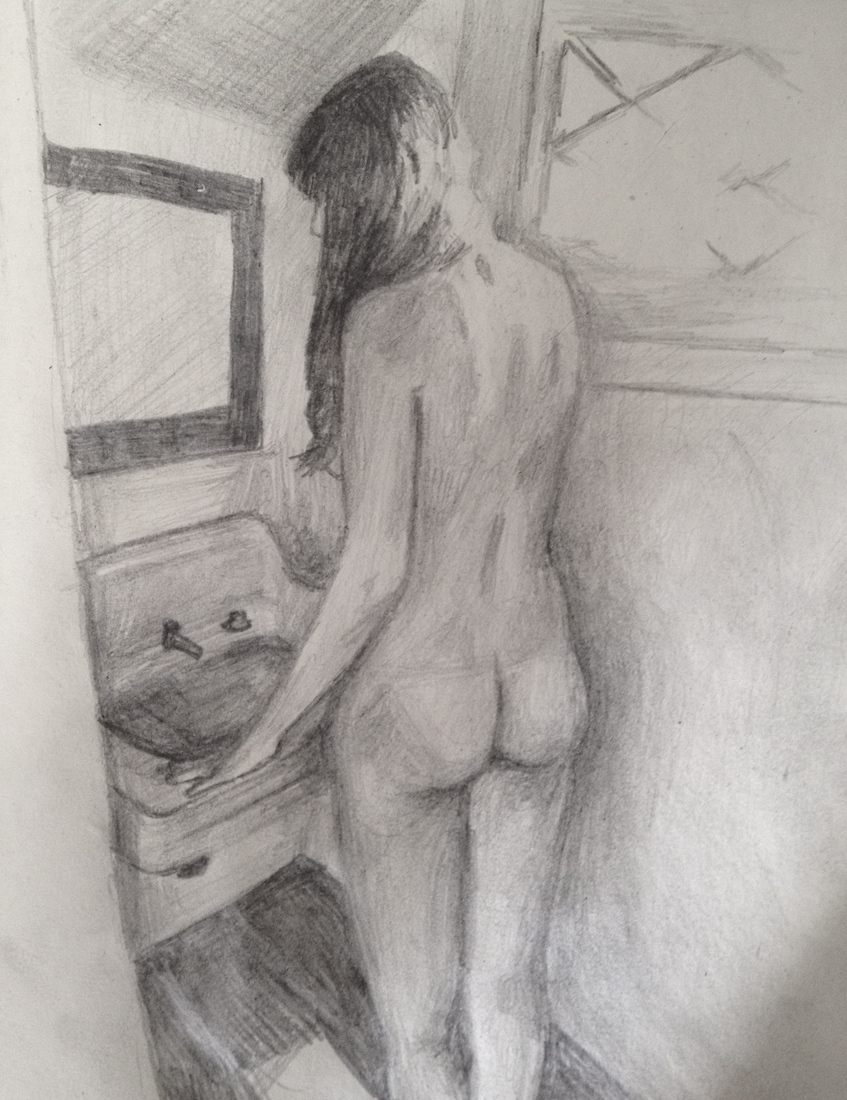 Sketchbook Biz in Grove House Bathroom