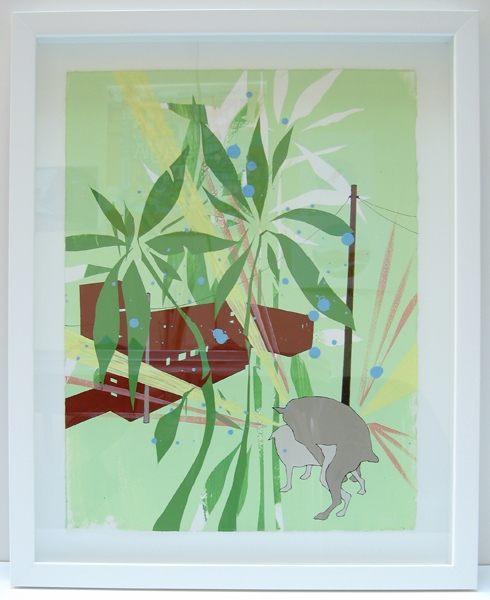 > Paintings Bamboo & Two Dogs - s