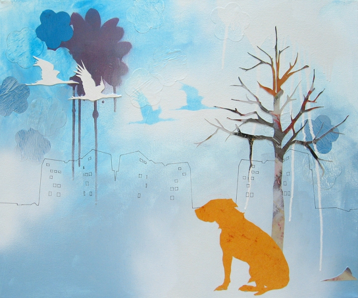 Paintings Dog in front of Projects - s