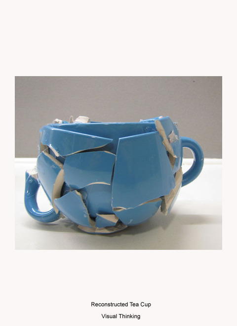 MARGARET MURPHY 3-D Design tea cup