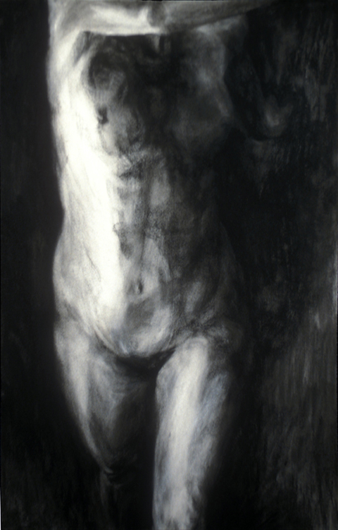 Margaret Keller Atopia Series charcoal on paper
