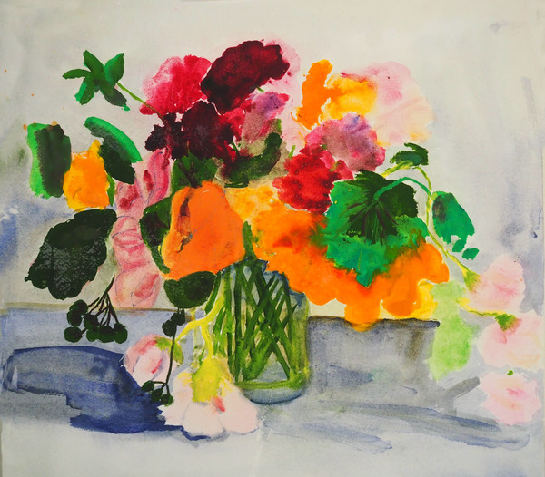 Margaret Matheson                                 Fine Art  Watermedia: Flowers Acrylic on Paper