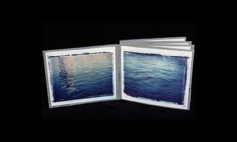 Gowanus Canal Series Artist book with polaroid transfers