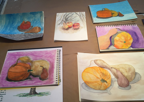 Maria Katzman Student Art Work (2 pages) watercolor