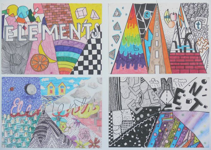Maria Katzman Student Art Work (2 pages) Markers, colored pencils
