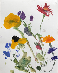 Marianne Gagnier Field Flowers series monoprint