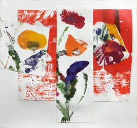 Marianne Gagnier Field Flowers series acrylic and paper