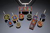 Art Jewelry sterling silver, enamel, epoxy, mixed media