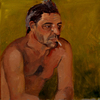 Figures oil on Masonite
