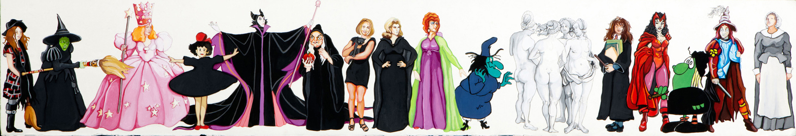 I AM A WITCH, PRINCESS, ANIMAL, FEMME FATALE.......... I am a Girl Witch: Gwendolyn, Wicked Witch of the West, Glinda, Kiki, Maleficent, Queen Grimhilde, Sabrina, Samantha, Endora, Witch Hazel, The Four Witches (Albrecht Durer), Hermione, Scarlet Witch, Broom Hilda, Witchiepoo, Elizabeth Proctor