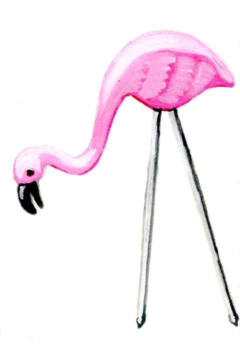 ICONOGRAPHICS PROJECT Pink Flamingo