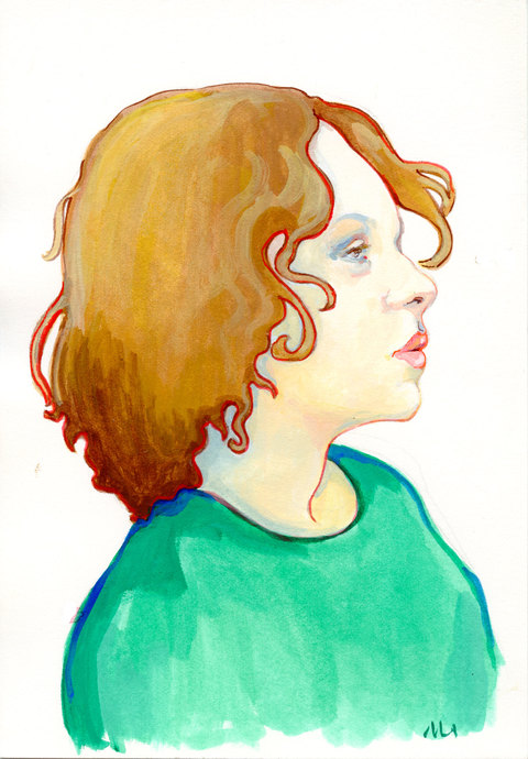 PORTRAITS Gouache on Paper