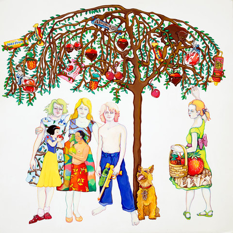 Maria Spector THE SUGAR-PLUM TREE Gouache on Paper