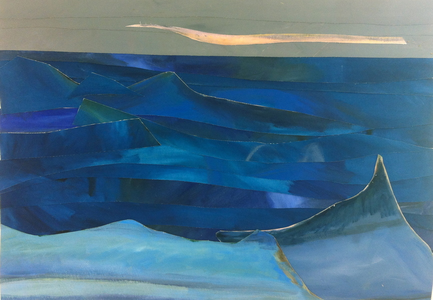 Mer & Terre (oil collages) Blue Waters