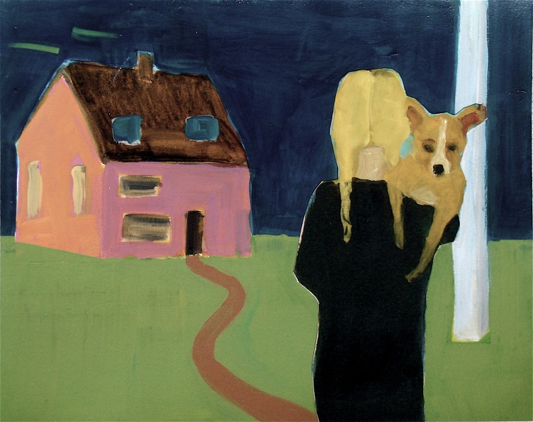 Figurative Collages Pink House
