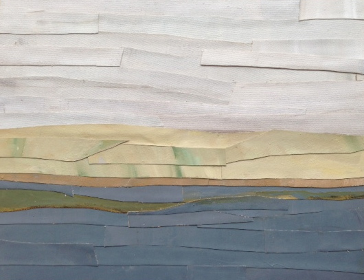 Mer & Terre (oil collages) Looking To Shore