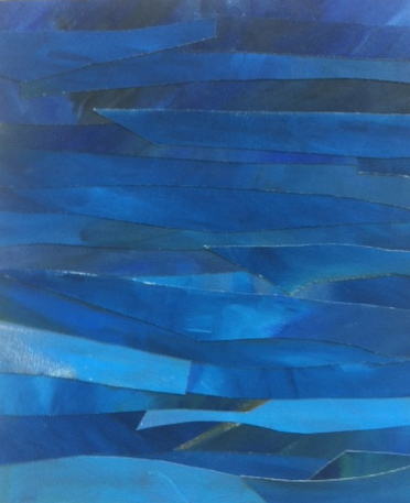 Mer & Terre (oil collages) Deep Blue