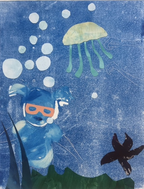 Figurative Collages Under The Sea III
