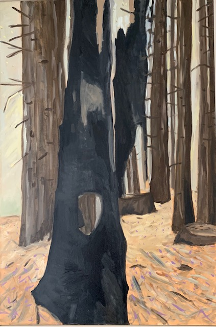 Woodland Untitled ( charred trunk)