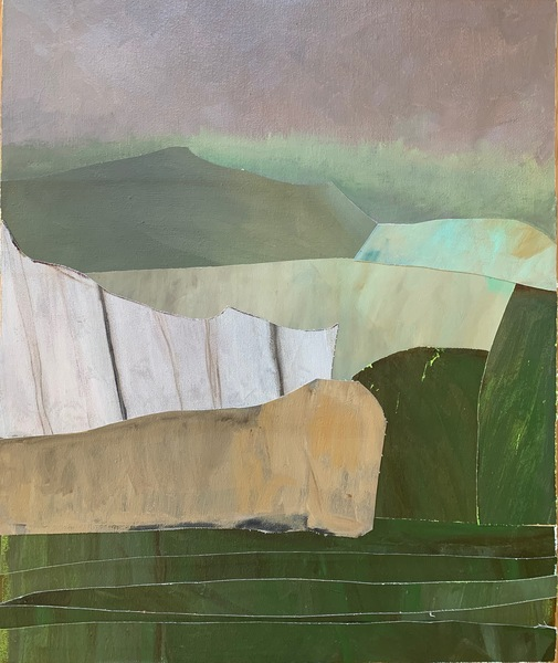Mer & Terre (oil collages) Green Terrain I