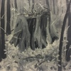 Stumps and Trees acrylic oil on canvas