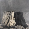 Grisaille Stumps  acrylic, oil on canvas