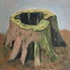 Stumps and Trees oil on canvas