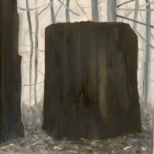 Marie Van Elder  Grisaille Stumps  oil on canvas