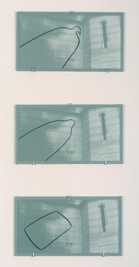 Marina Cappelletto 1993-1994 B&W photographs, gouache on vellum. glass, tape