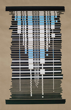 Marion Engelbach Tapestries 2 craft paper, acrylic, tape