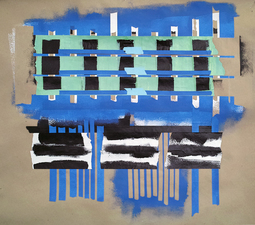 Marion Engelbach Tapestries 1 craft paper, acrylic, tape