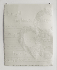 Marjorie S. Forté Mourning Rings pricked paper