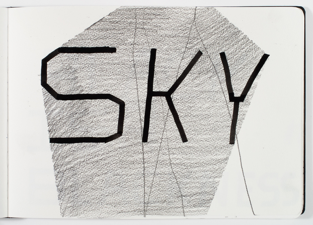 mark booth SKY Pencil and ink on paper