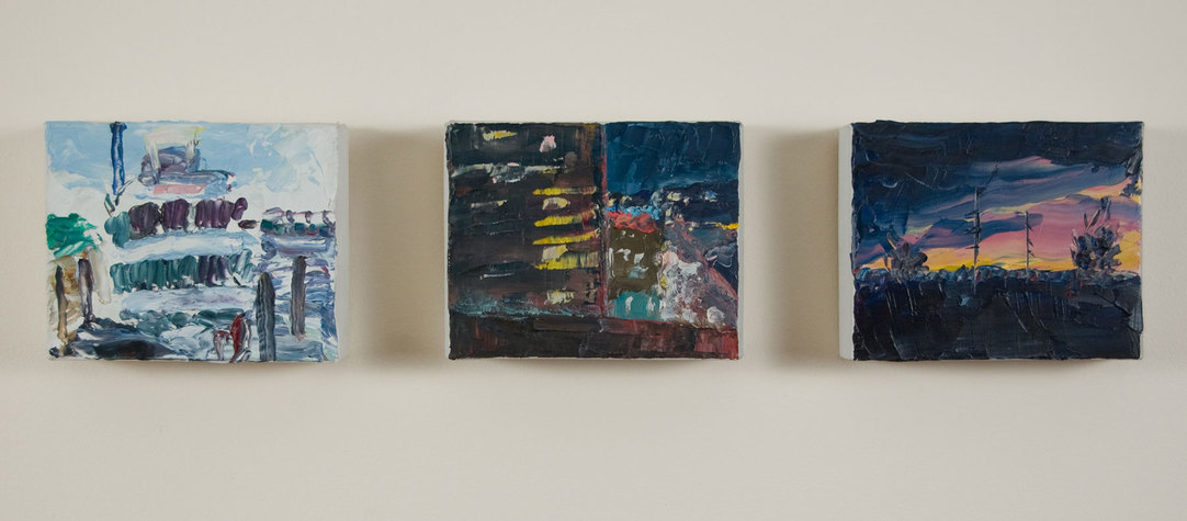 Small Paintings Oil on paint-tube boxes