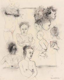 Marsha Gold Gayer Sketches charcoal and pastel on paper