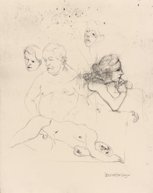 Marsha Gold Gayer Sketches charcoal pencil on paper
