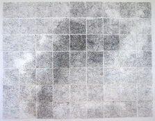 Marsha Goldberg Palmyra - 2019 drawing installation graphite powder on translucent Yupo paper