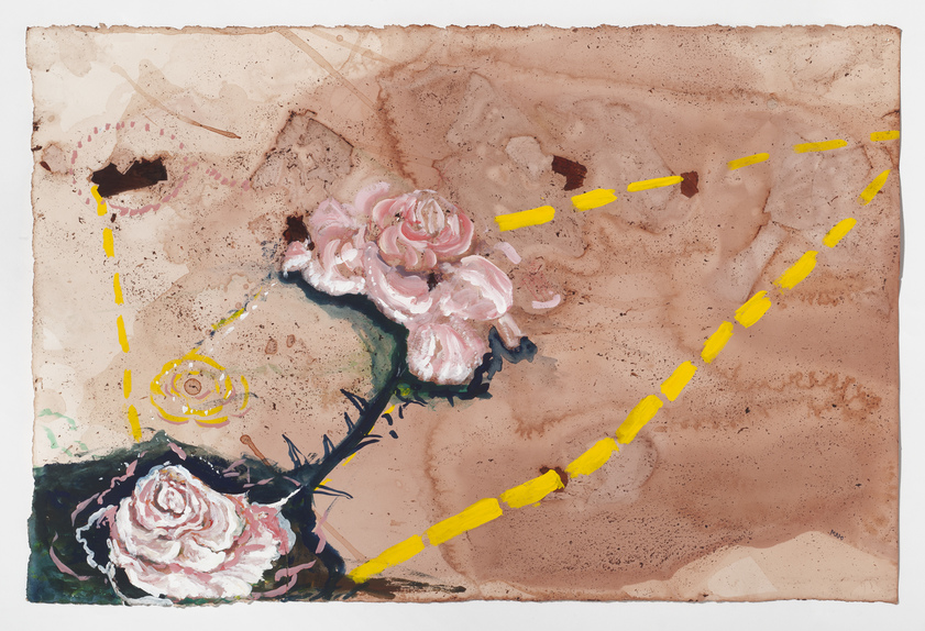 Works on Paper 2015-19 Road Map: Rose to a Rose to a Rose