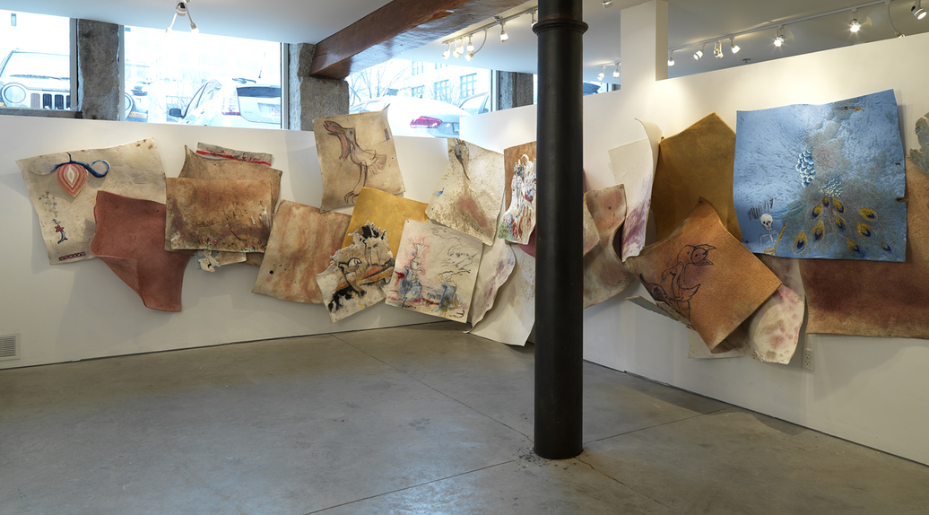 Paintings: EXPUNGE, 2015 EXPUNGE Installation View