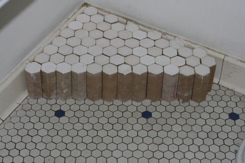 Martha Schlitt MY BATHROOM FLOOR plaster, cardboard