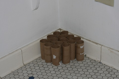 Martha Schlitt MY BATHROOM FLOOR cardboard