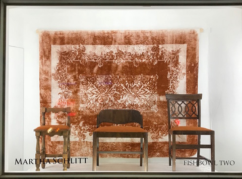 Martha Schlitt INSTALLATIONS chairs, tablecloth, paprika