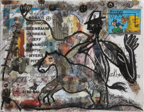 Marty Greenbaum HORSERIDER mixed media