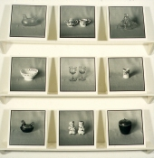 Mary Ann Becker Photographic Objects silver gelatin prints, paper, and shelving