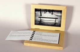 Mary Ann Becker Photographic Objects silver gelatin print, frame and text