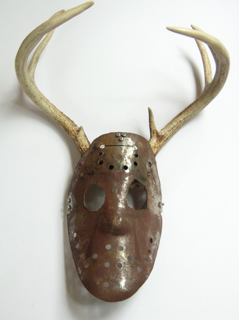 MARY LEARY sculpture metal, deer head