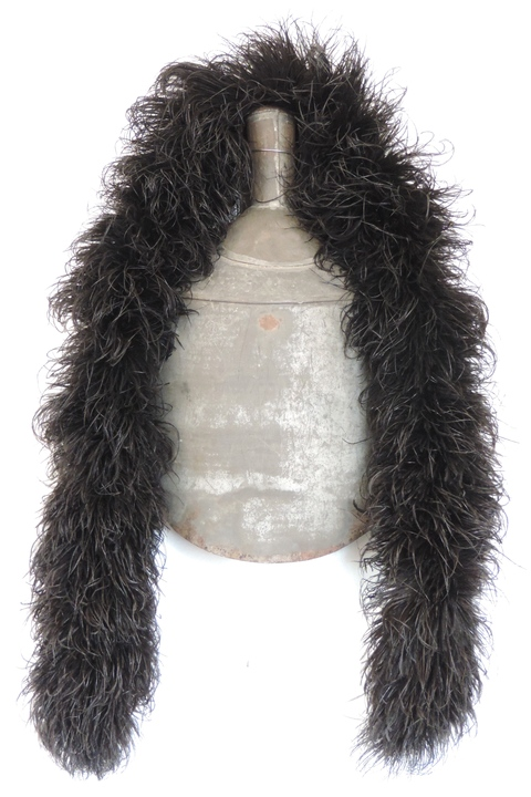 MARY LEARY sculpture ostrich feathers, metal