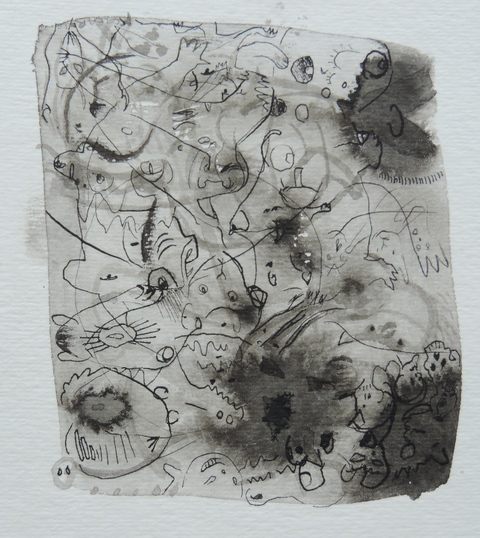 MARY LEARY recent work ink on paper