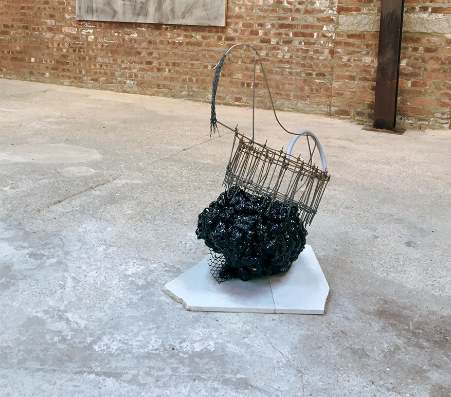INCIPIENCES | The Buggy Factory, Bushwick Brooklyn |  2016 metal, foam, stone, plastic, twine