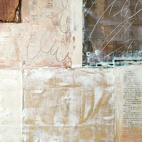 MARY MORANT Collages Mixed Media (antique books and papers)